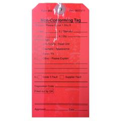 Tags,Red,Elastic Tie