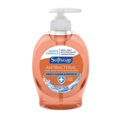 SoftSoap Antibacterial Hand Soap, Crisp Clean, Orange, 5.5 oz Pump Bottle, 12/Carton